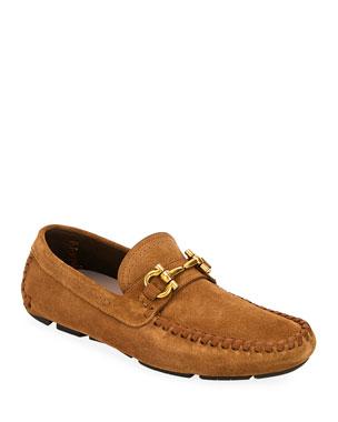 c554329948f Men s Saffiano Leather Driver Shoes.  550 · Salvatore Ferragamo Men s  Parigi Suede Bit Driver