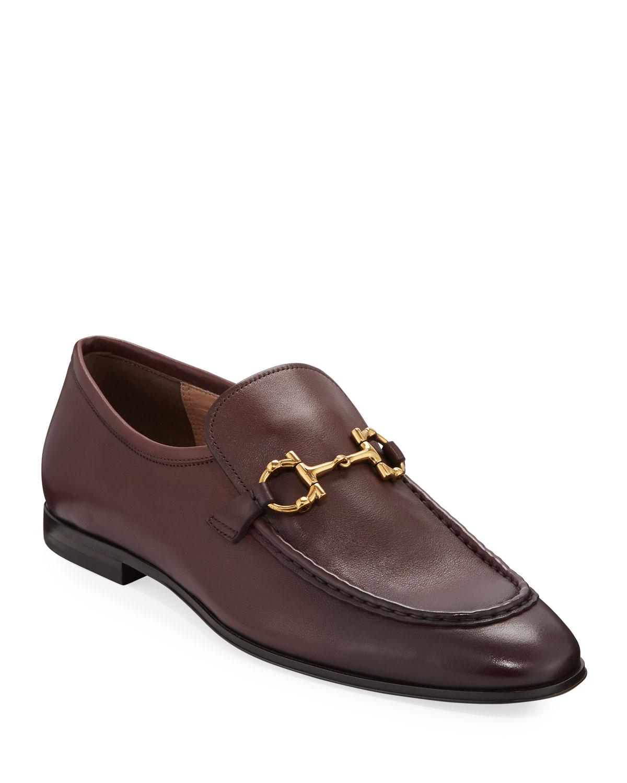 7bc010a463b Salvatore Ferragamo Men s Anderson Leather Bit Loafers