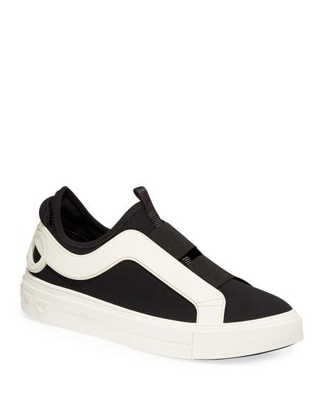 Salvatore Ferragamo Men's Answer Slip-On Low-Top Sneakers