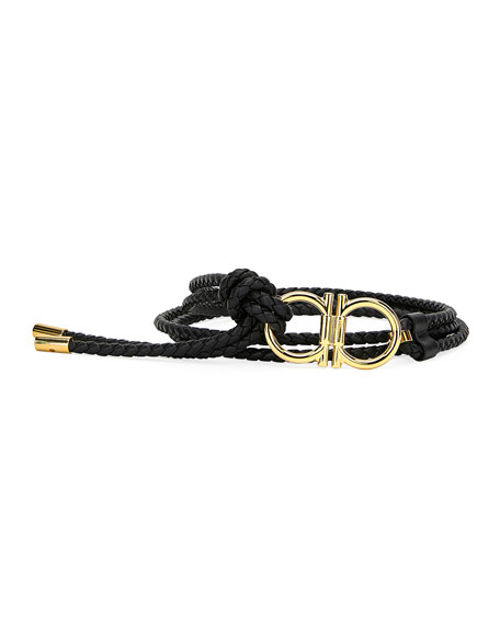 Salvatore Ferragamo Men's Sized Braided Belt