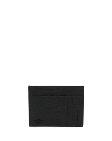 Salvatore Ferragamo Men's Revival Gancini Leather Card Case