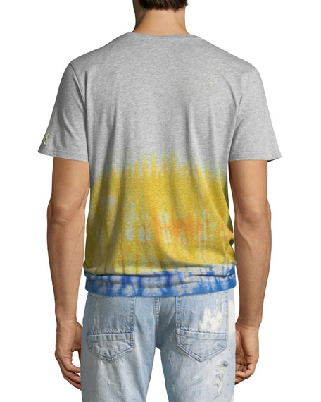 PRPS Men's Short Sleeve T With Tie-Dye Waist