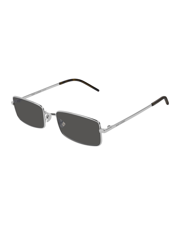 5b5fd6dd1833 Saint Laurent Men's Slim Metal Rectangle Sunglasses | Neiman Marcus