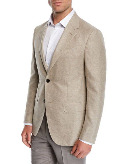 Image 1 of 3: Ermenegildo Zegna Men's Cotton Blazer