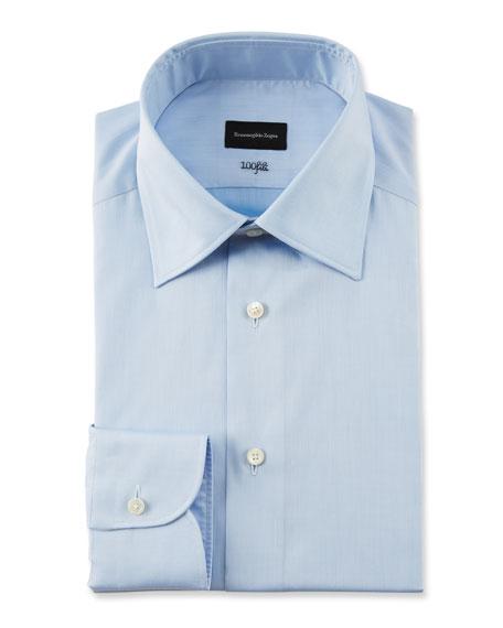 Ermenegildo Zegna Men's 100fili Solid Dress Shirt