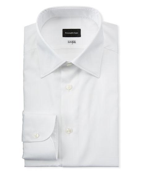 Ermenegildo Zegna Men's Solid Cotton Dress Shirt