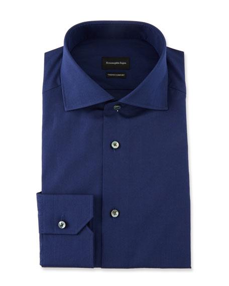 Ermenegildo Zegna Men's Solid Trofeo Dress Shirt