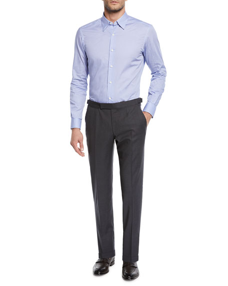 Ermenegildo Zegna Men's Wool Stretch Dress Trousers