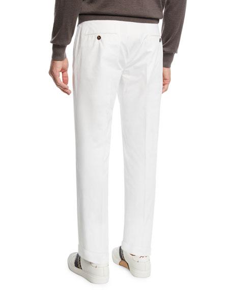 Ermenegildo Zegna Men's Cotton Dress Trousers