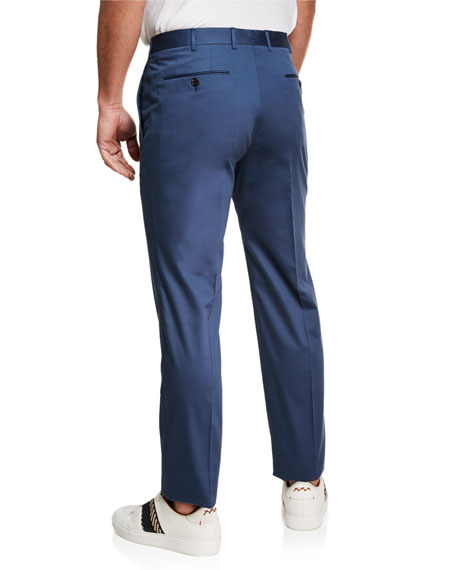 Ermenegildo Zegna Men's Cotton Sateen Tapered Pants