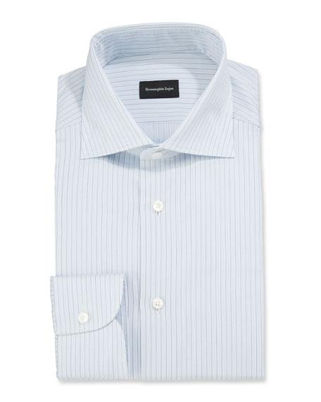 Ermenegildo Zegna Men's Micro-Striped Dress Shirt
