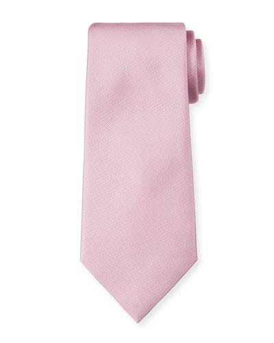 Solid Silk Twill Tie  Pink