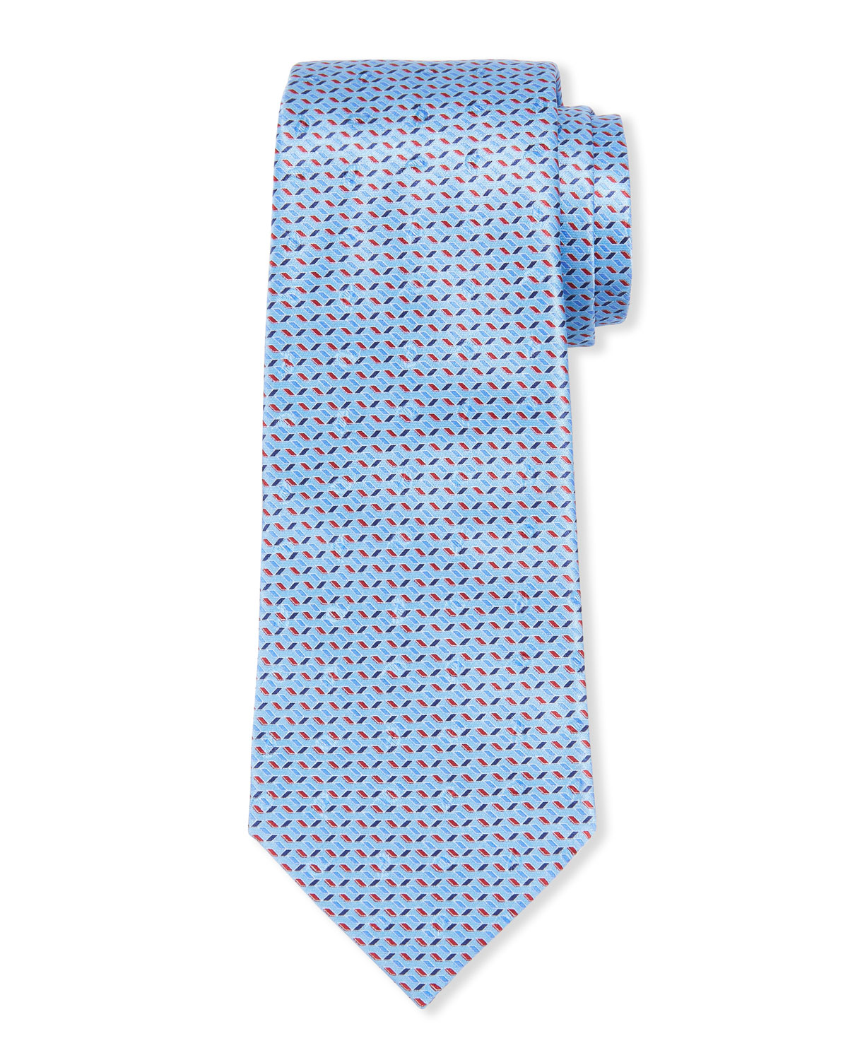 Ermenegildo Zegna Large-Scale Paisley Tie, Light Blue