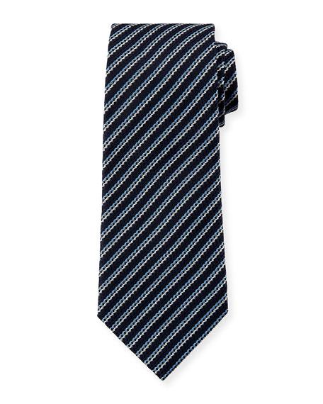 Ermenegildo Zegna Men's Silk Narrow-Stripe Tie