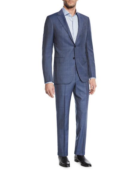 Ermenegildo Zegna Men's Windowpane 2-Piece Suit