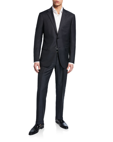 Ermenegildo Zegna Men's Tonal Stripe Two-Piece Wool/Silk Suit