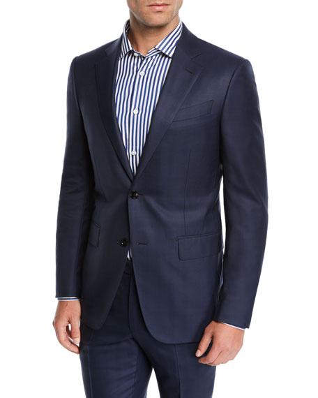 Ermenegildo Zegna Men's Two-Piece Midnight Plaid Suit