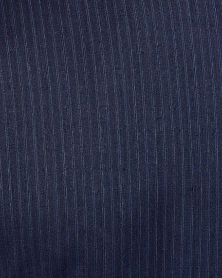 Ermenegildo Zegna Men's Bead Striped Two-Piece Wool Suit