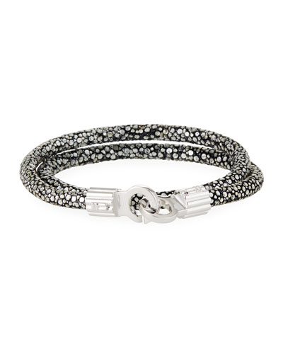 Men's Stingray Shagreen Wrap Bracelet