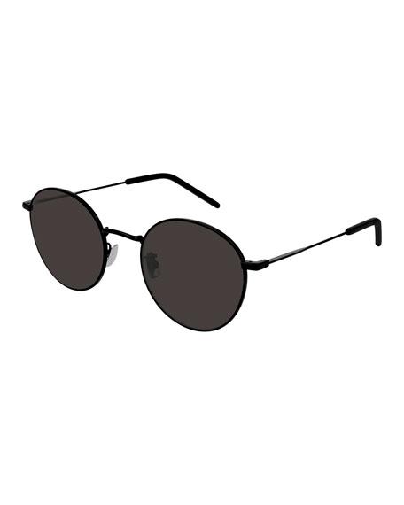 Saint Laurent Men's Slim Metal Rectangle Sunglasses