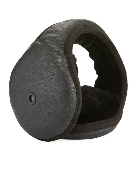 UGG Men's Leather & Shearling Earmuffs