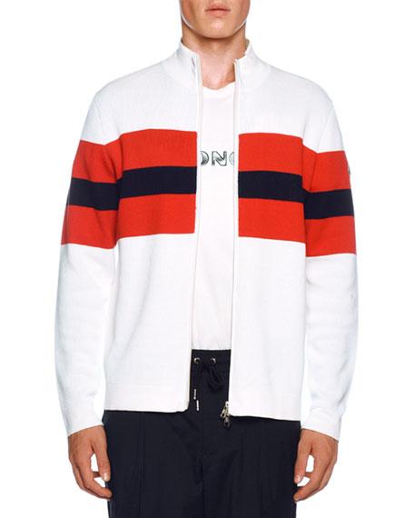 Men's Tricolor Zip Cardigan
