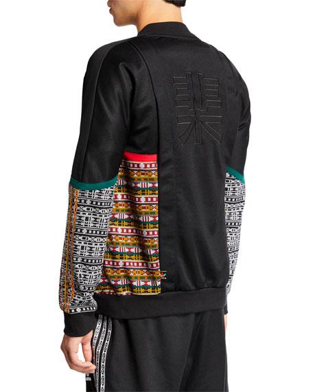 Adidas Men's x Pharrell Williams SOLARHU  Woven-Panel Zip-Front Track Jacket