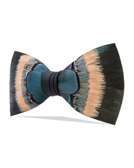 Brackish Bowties Hemlock Feather Formal Bow Tie