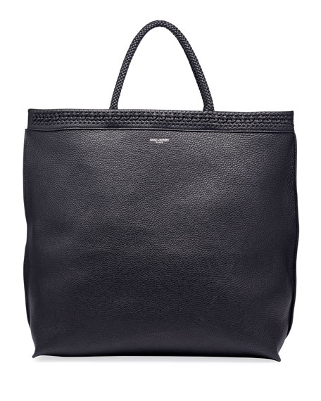 Image 1 of 2: Men's YSL Leather Tote Bag