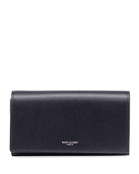 Saint Laurent Men's Leather Flap Wallet