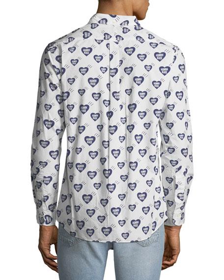 HUMAN MADE Men's Heart Pattern Shirt