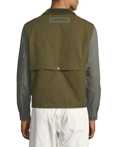 HUMAN MADE Men's Colorblock Twill Hunting Jacket
