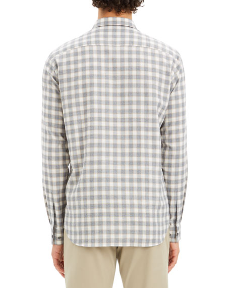 Theory Men's Irving Check Flannel Sport Shirt