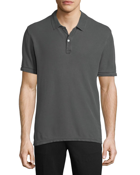 ATM Anthony Thomas Melillo Men's Faded Pique Classic Polo Shirt