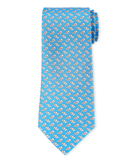 Salvatore Ferragamo Gemello Dogs Silk Tie