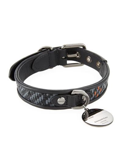 Pelle Tessuta Leather Dog Collar