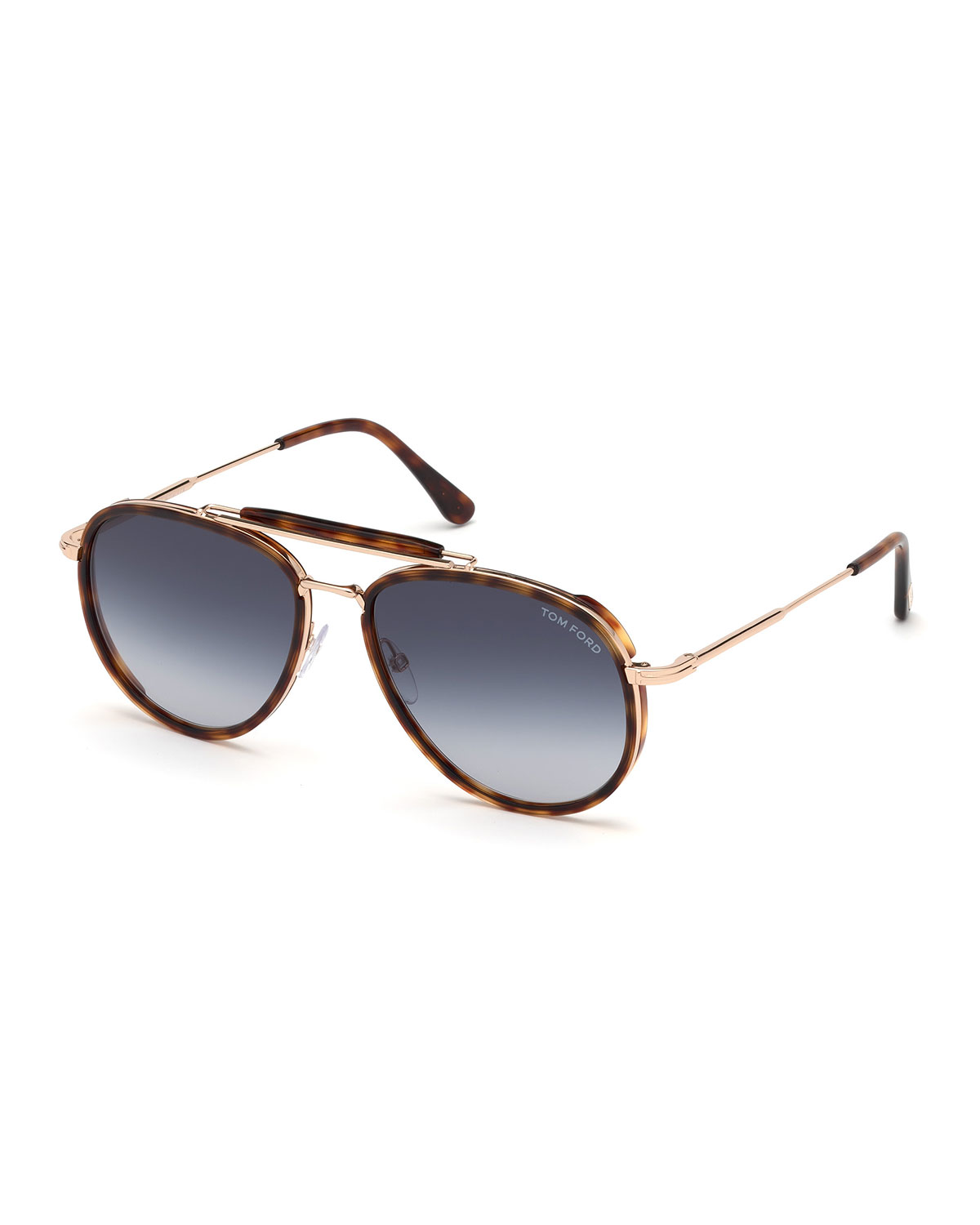 6f70737fe831 TOM FORD Men s Tripp Tortoiseshell Aviator Sunglasses