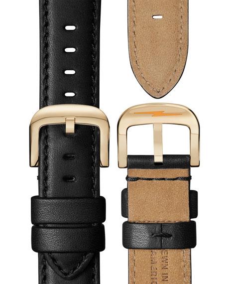 Shinola Men's 45mm Canfield Sport 3-Eye Chrono Watch w/ Leather Strap