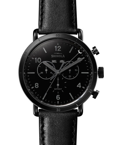 Men's 45mm Canfield Sport Blackout Chrono Watch