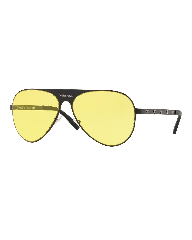 99e88577eba Versace Men s Medusa Head Aviator Sunglasses