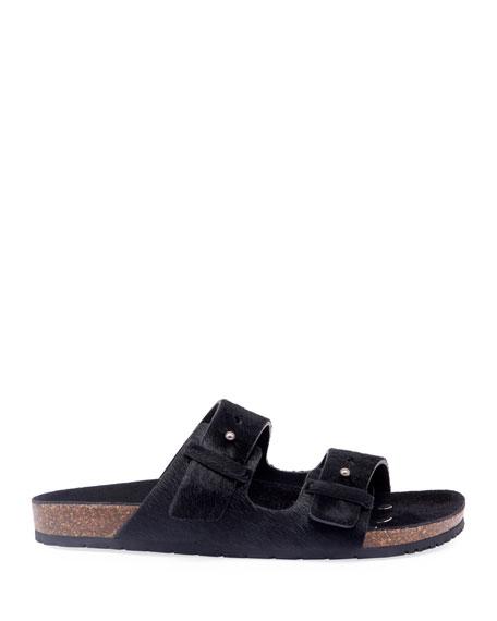 Saint Laurent Men's Jimmy 2Bridle Calf-Hair Sandals