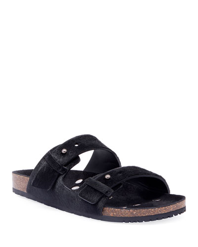 Men's Jimmy 2Bridle Calf-Hair Sandals