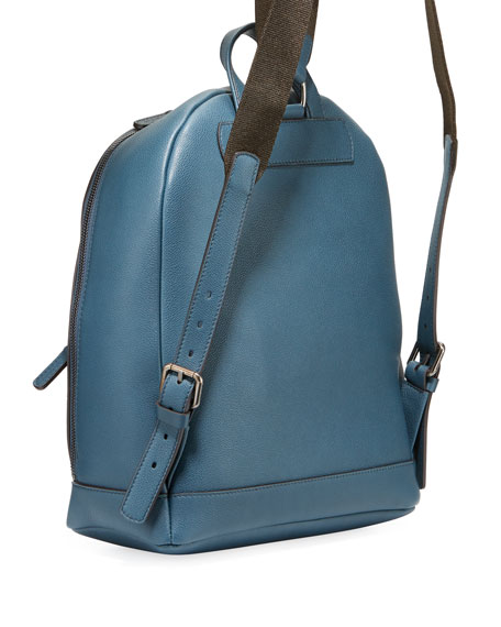 Giorgio Armani Men's Tumbled Calf Leather Backpack