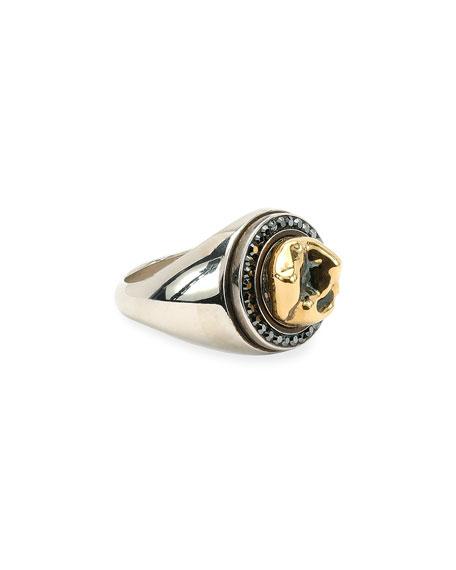 Alexander McQueen Men's Silvertone & Brass Tooth Ring