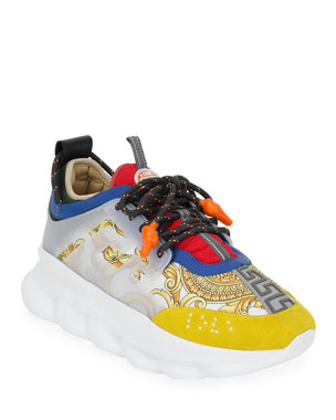 245f3db082f7e Versace Men s Chain Reaction Tribute Sneakers