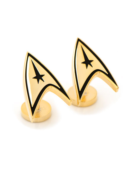 Cufflinks Inc. Star Trek Delta Shield Gold-Plated Cuff Links
