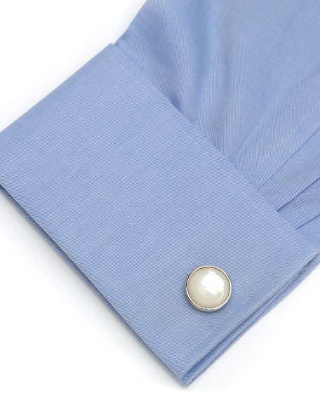 Cufflinks Inc. Ribbed Mother of Pearl Cuff Links