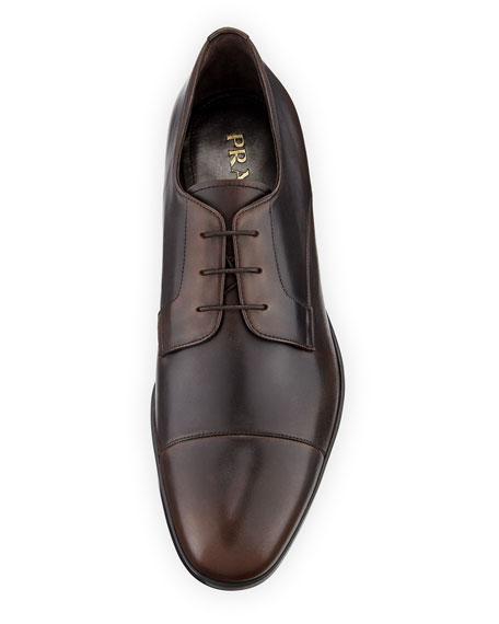 Men's Bristol Vitello Leather Lace-Up Dress Shoes
