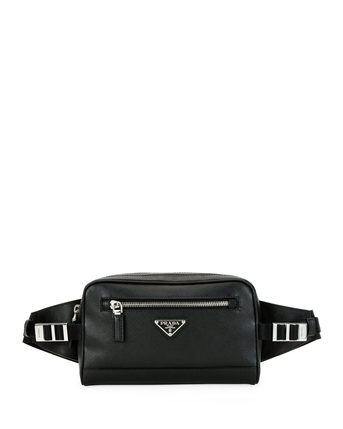 06084eac9a50 Prada Men s Saffiano Leather Travel Belt Bag Fanny Pack