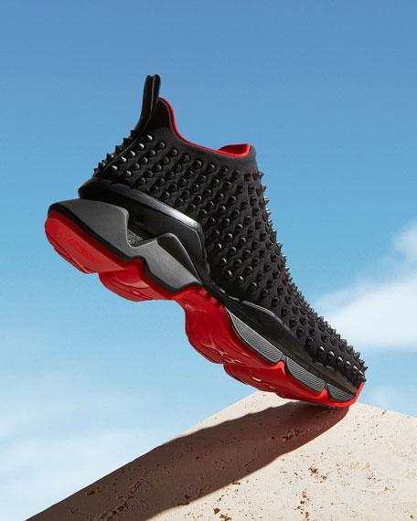Christian Louboutin Men's Spiked Sock 30 Neoprene Sneakers